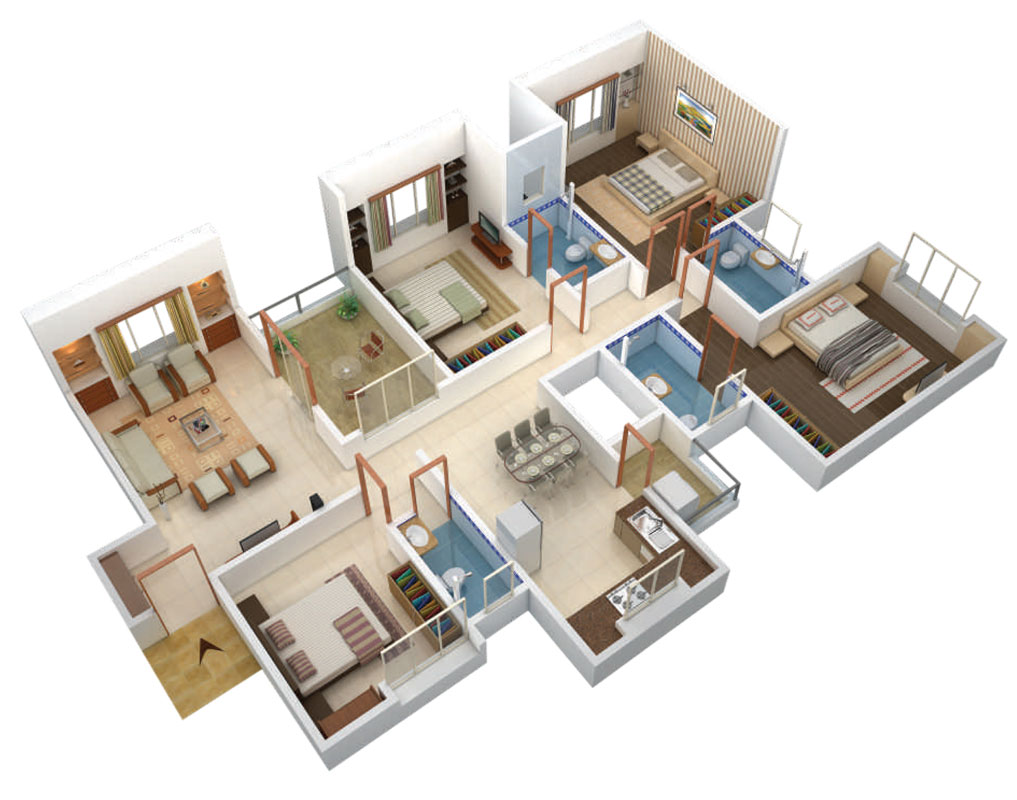 4 bhk flat design git der shop f r eltern for Floor plan for 4bhk house